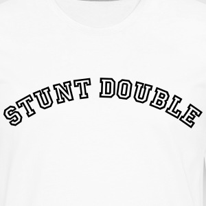 stunt double curved college style logo t-shirt - Men's Premium Long Sleeve T-Shirt