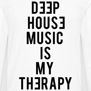 Deep House Music Is My Therapy - Men's Premium Long Sleeve T-Shirt