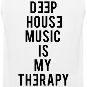 Deep House Music Is My Therapy - Men's Premium Tank