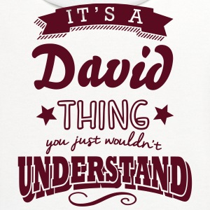 its a david name surname thing t-shirt - Contrast Hoodie