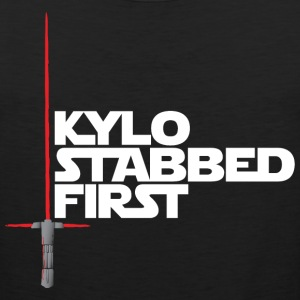 Kylo Stabbed First by Rocktane Clothing Women's T-Shirts - Men's Premium Tank