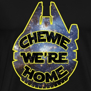 chewie, we're home-falcon Hoodies - Men's Premium T-Shirt