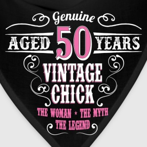 Vintage Chick Aged 50 Years... Women's T-Shirts - Bandana