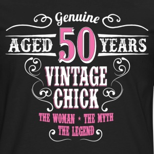 Vintage Chick Aged 50 Years... Women's T-Shirts - Men's Premium Long Sleeve T-Shirt