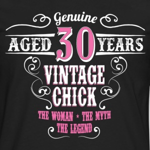 Vintage Chick Aged 30 Years... Women's T-Shirts - Men's Premium Long Sleeve T-Shirt
