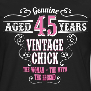 Vintage Chick  Aged 45 Years... Women's T-Shirts - Men's Premium Long Sleeve T-Shirt