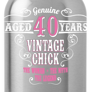 Vintage Chick Aged 40 Years Women's T-Shirts - Water Bottle