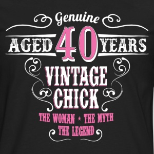 Vintage Chick Aged 40 Years Women's T-Shirts - Men's Premium Long Sleeve T-Shirt