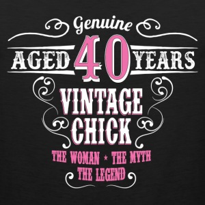 Vintage Chick Aged 40 Years Women's T-Shirts - Men's Premium Tank