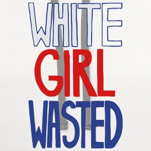 WHITE GIRL WASTED Women's T-Shirts - Contrast Hoodie