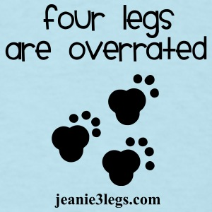 Jeanie Paw Prints Four Legs Are Overrated Baby Bodysuits - Men's T-Shirt