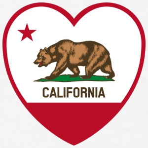 California Heart Bear - Men's T-Shirt