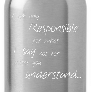 Responsible Quote - Water Bottle