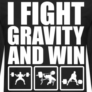I Fight Gravity And Win (Powerlifting) T-Shirts - Men's Premium Long Sleeve T-Shirt