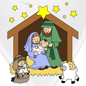 Nativity Scene Cartoon - Bandana