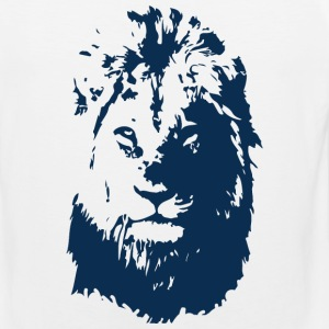 Lion's face T-Shirts - Men's Premium Tank