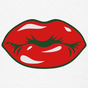 SEXY RED LIPS - KISS Caps - Men's T-Shirt