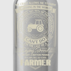 farmer because badass farmer proud to be - Water Bottle