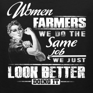 farmer's wife farmer love daughter farmer - Men's Premium Tank