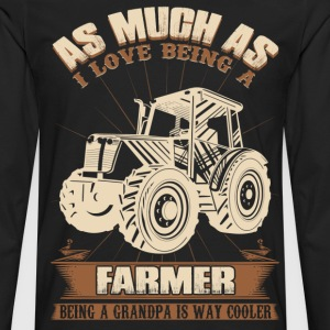 farmer grandpa papa grandfather - Men's Premium Long Sleeve T-Shirt