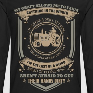farmer love farm tractor - Men's Premium Long Sleeve T-Shirt