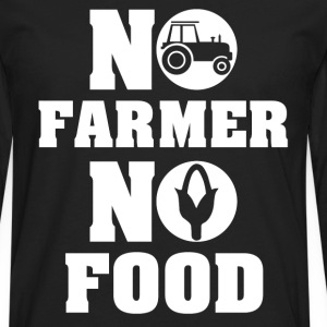 no farmer no food farming - Men's Premium Long Sleeve T-Shirt