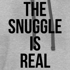 The Snuggle Is Real T-shirt - Contrast Hoodie