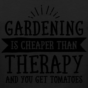 Gardening Is Cheaper Than Therapy... T-Shirts - Men's Premium Tank
