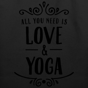 All You Need Is Love & Yoga T-Shirts - Eco-Friendly Cotton Tote
