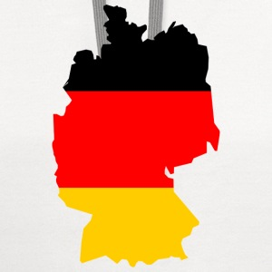 Germany-flag map T-Shirts - Contrast Hoodie