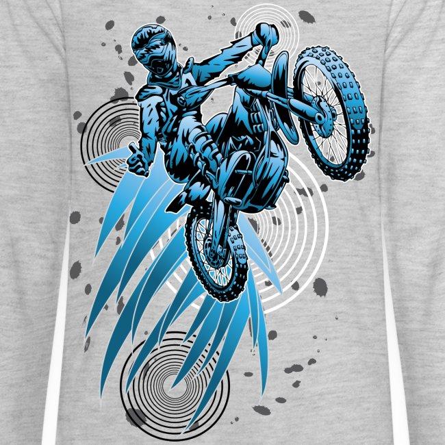 Blue Psycho Dirt Biker