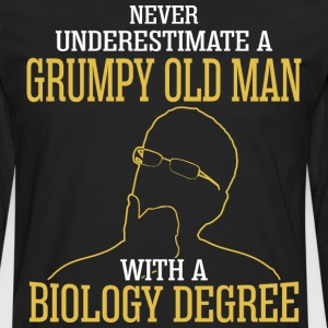 A Grumpy Old Man With A Biology Degree - Men's Premium Long Sleeve T-Shirt