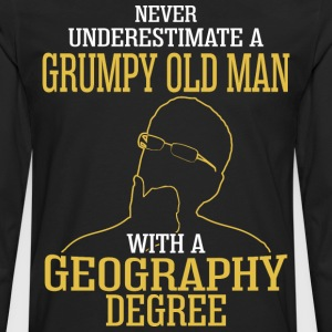 A Grumpy Old Man With A Geography Degree - Men's Premium Long Sleeve T-Shirt