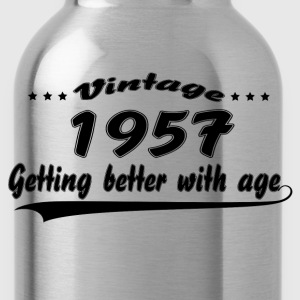 Vintage 1957 Getting Better With Age Women's T-Shirts - Water Bottle
