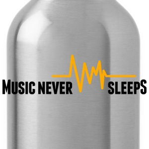 Music never sleeps Hoodies - Water Bottle