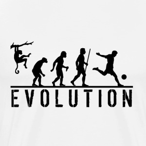 Funny Soccer Evolution Hoodie - Men's Premium T-Shirt