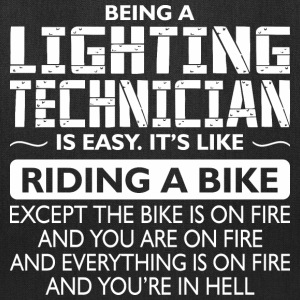 Being A Lighting Technician Like Bike Is On Fire - Tote Bag
