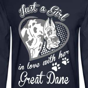 Just A Girl In Love With Her Great Dane Dog - Men's Long Sleeve T-Shirt