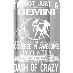 Gemini Splash Of Sassy And A Dash Of Crazy - Water Bottle