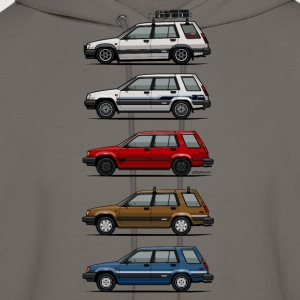 Stack of Toyota Tercel SR5 4WD Wagons T-Shirts - Men's Hoodie