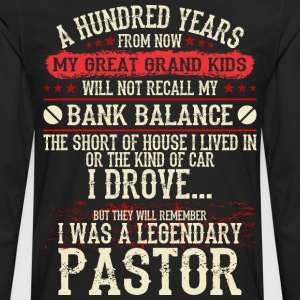 My Grandkids Remember I Was A Legendary Pastor - Men's Premium Long Sleeve T-Shirt
