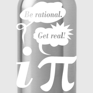 Math Mathematics Be Rational Get Real - Water Bottle