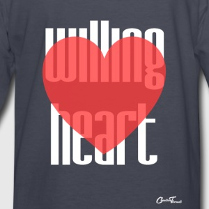 Willing heart-white Hoodies - Kids' Long Sleeve T-Shirt