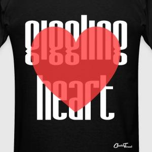 Giggling heart-white Hoodies - Men's T-Shirt