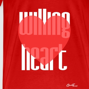 Willing heart-white Tanks - Men's Premium T-Shirt