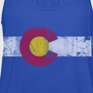 Colorado Flag Vintage Fade Kids' Shirts - Women's Flowy Tank Top by Bella