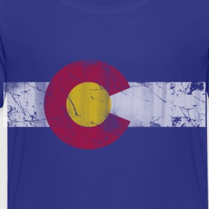 Colorado Flag Vintage Fade Kids' Shirts - Toddler Premium T-Shirt