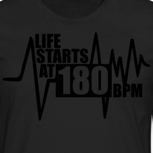 T-Shirt Life starts at 180 BPM - Men's Premium Long Sleeve T-Shirt