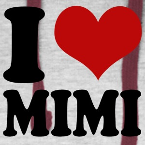 I Heart Mimi Baby Bodysuits - Colorblock Hoodie
