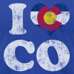 Popular I Heart Flag of Colorado Hoodies - Men's T-Shirt by American Apparel